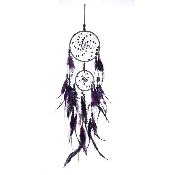 Attrape rêve indien violet