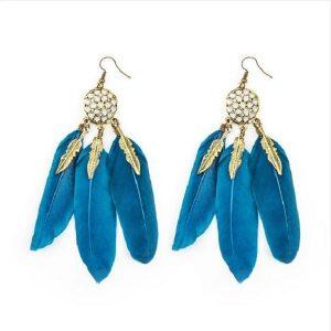 Boucles d'oreilles attrape rêve turquoise 1