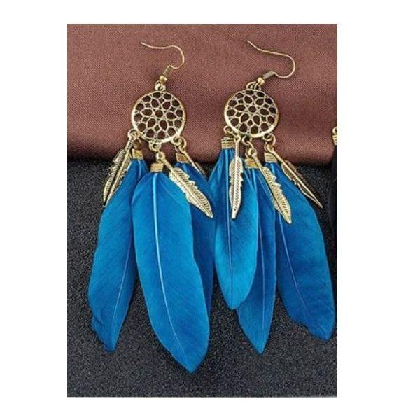Boucles d'oreilles attrape rêve turquoise 2