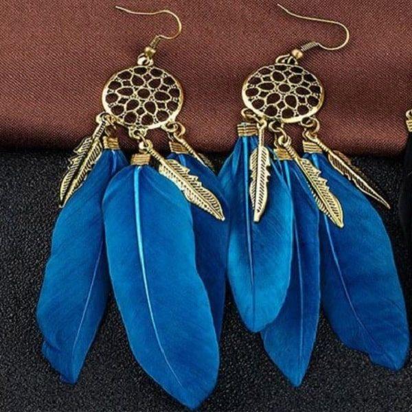 Boucles d'oreilles attrape rêve turquoise 3