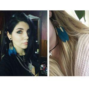 Boucles d'oreilles attrape rêve turquoise 4