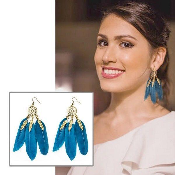 Boucles d'oreilles attrape rêve turquoise