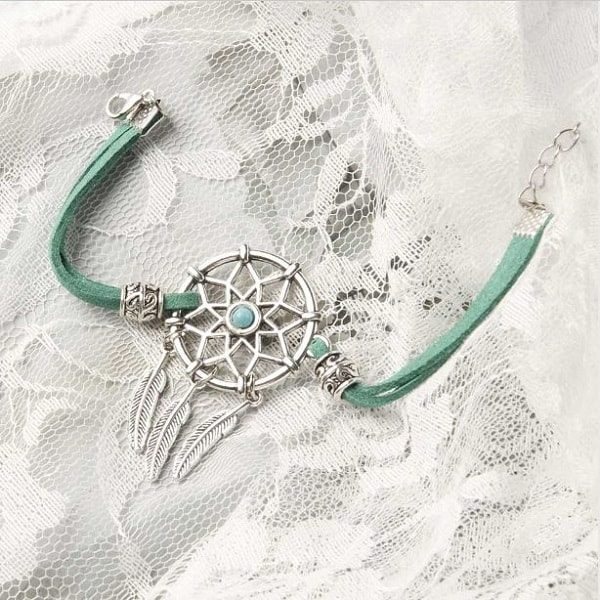 Bracelet pour femme avec attrape rêve Bleu