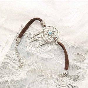 Bracelet pour femme avec attrape rêve Marron