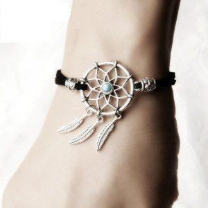 Bracelet pour femme avec attrape rêve Noir