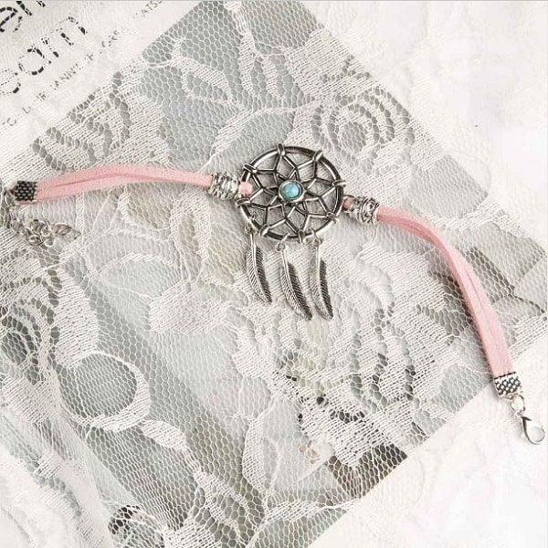 Bracelet pour femme avec attrape rêve Rose