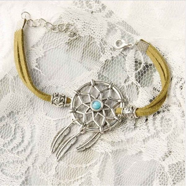 Bracelet pour femme avec attrape rêve Vert