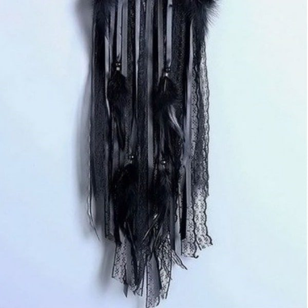 Attrape rêve noir dentelle 2