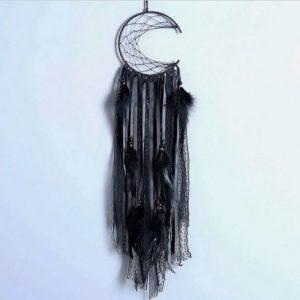 Attrape rêve noir dentelle