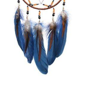 Attrape rêve orange et bleu 4