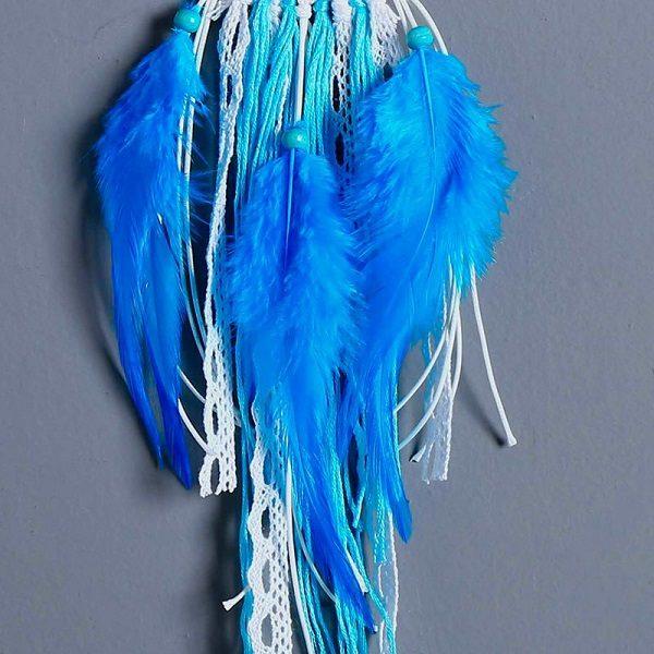 Attrape rêve turquoise et blanc 2