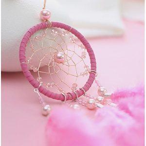 Petit attrape rêve rose 2