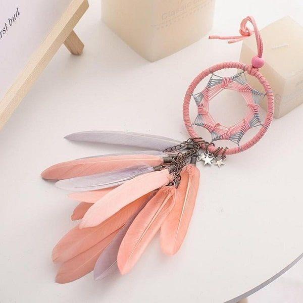 Attrape-rêve rose et orange 1
