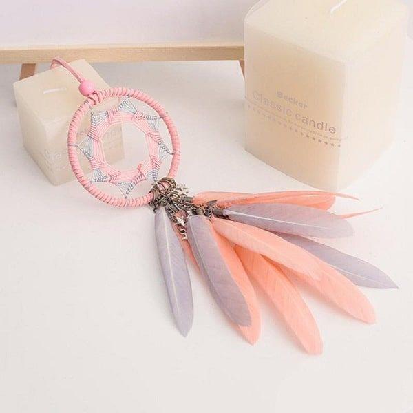 Attrape-rêve rose et orange 3