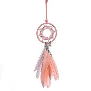 Attrape-rêve rose et orange 4