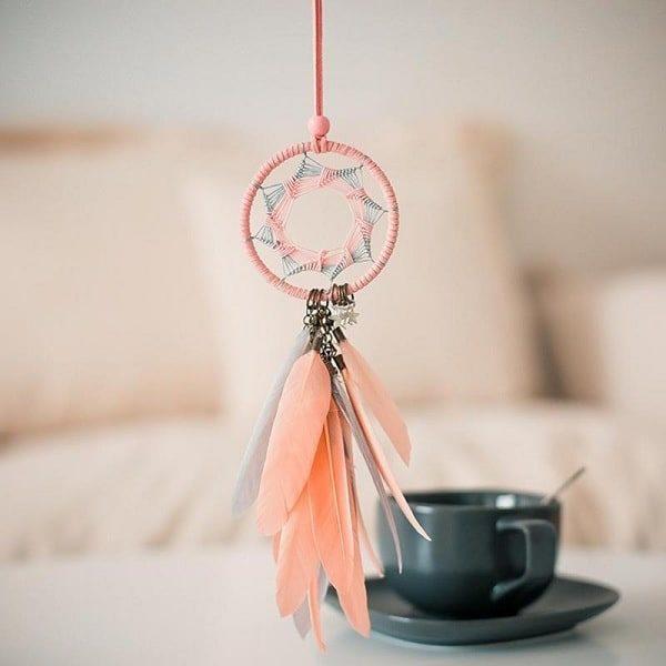 Attrape-rêve rose et orange