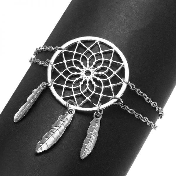 Bracelet attrape rêve pas cher à double chaine