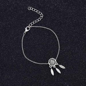 Bracelet capteur de rêve -argent
