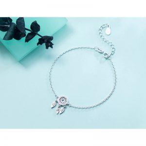 Bracelet capteur de rêve argent - bijou féminin