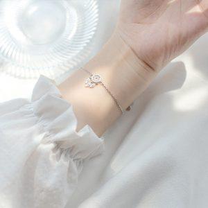Bracelet capteur de rêve argent pour femme