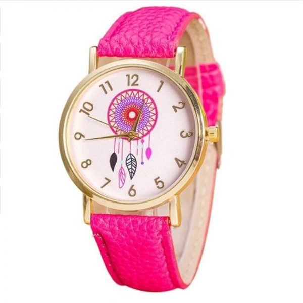 Montre attrape rêve fuschia