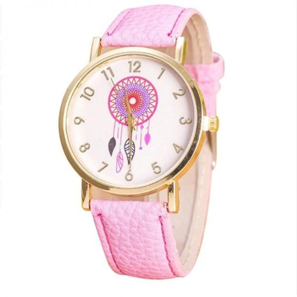 Montre attrape rêve rose