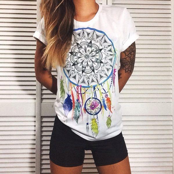 T shirt attrape rêve femme