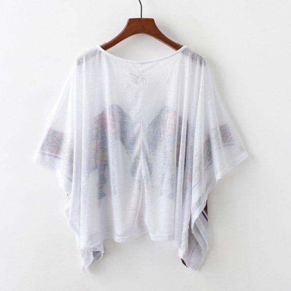 Tee shirt attrape rêve grande taille, dos
