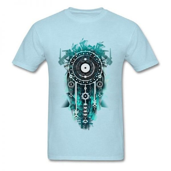 Tee shirt homme attrape rêve - Bleu Clair
