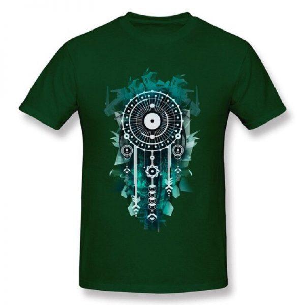 Tee shirt homme attrape rêve - Vert Foncé