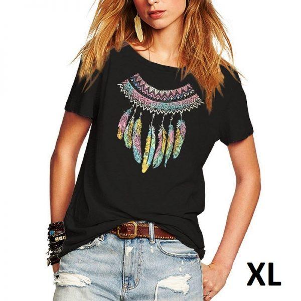 Tee shirt motif attrape rêve, taille XL